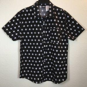 NWT Disney Star Wars Button Down Men's Shirt XL